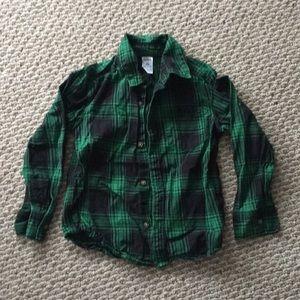 Dark green flannel shirt 4T